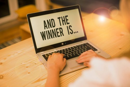 And the winner is on a laptop